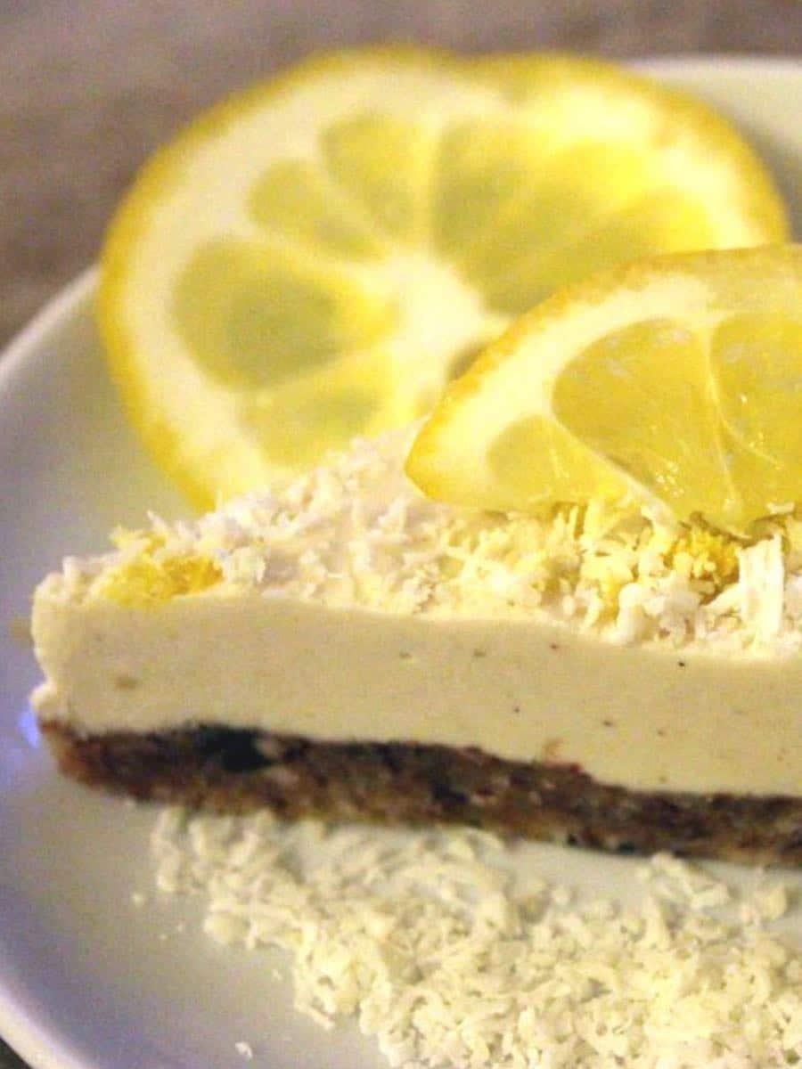 Gesunde Rohkost Zitronentarte ohne Zucker clean eating