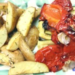 Ofenkartoffeln und Gemüse vom Blech