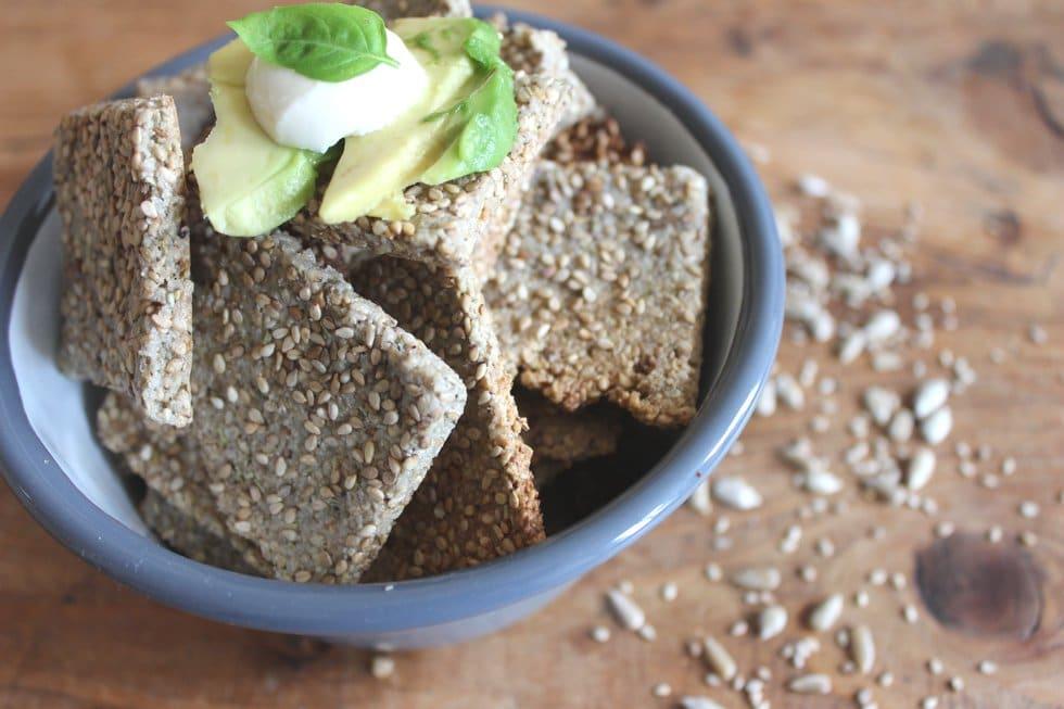 Glutenfreie Sesam Cracker gesundes Rezept
