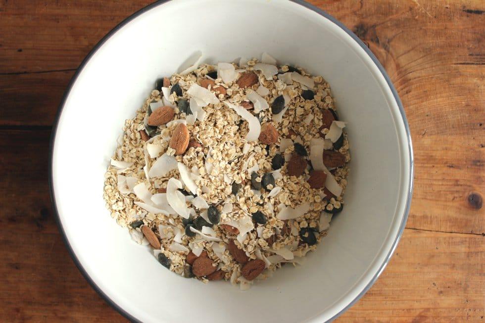 Glutenfreie Muesli Mischung clean eating