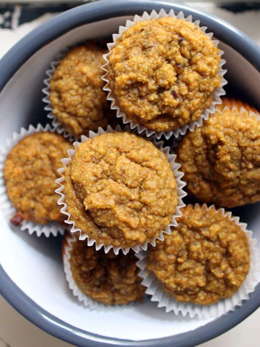 Gesunde Gemuese Muffins glutenfrei ohne Zucker