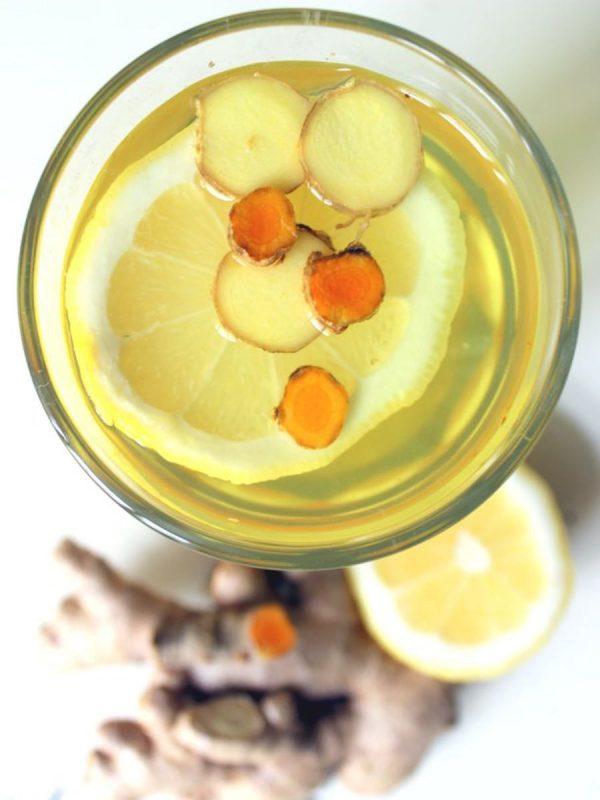 Ingwer Kurkuma Zitronen Tee