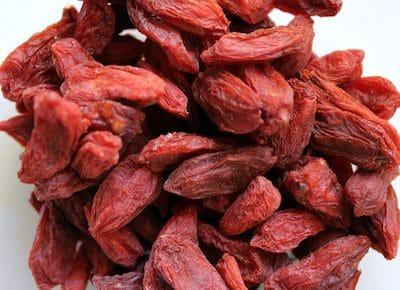 Viele rote Goji Beeren