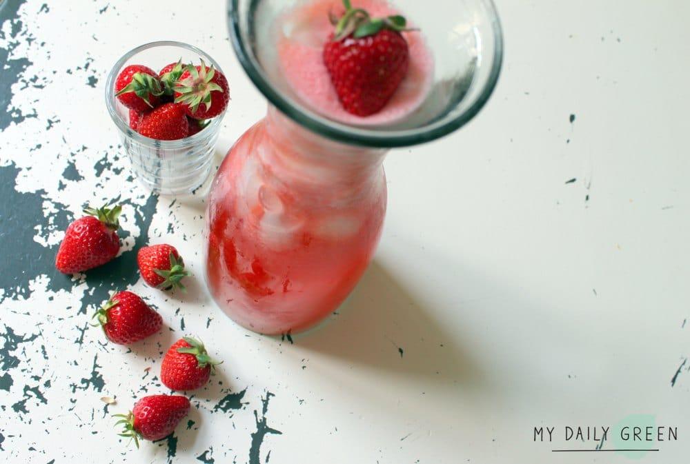 Gesunde Erdbeer Limonade ohne Zucker