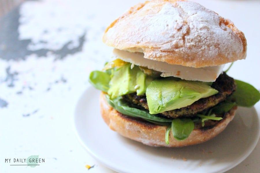 Vegane Linsen Burger gesundes Rezept