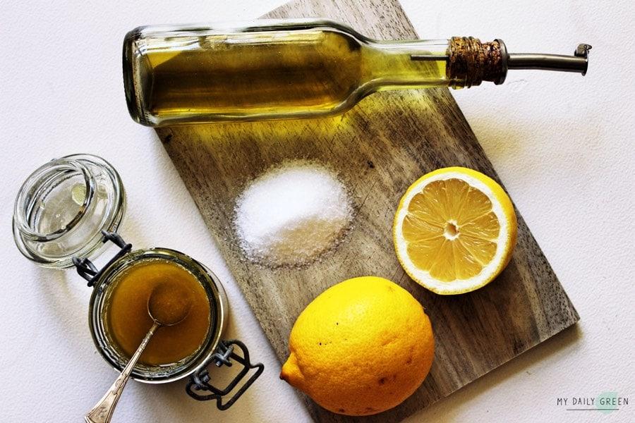 Gesundes-Zitronen-Peeling-natuerliche-Zutaten