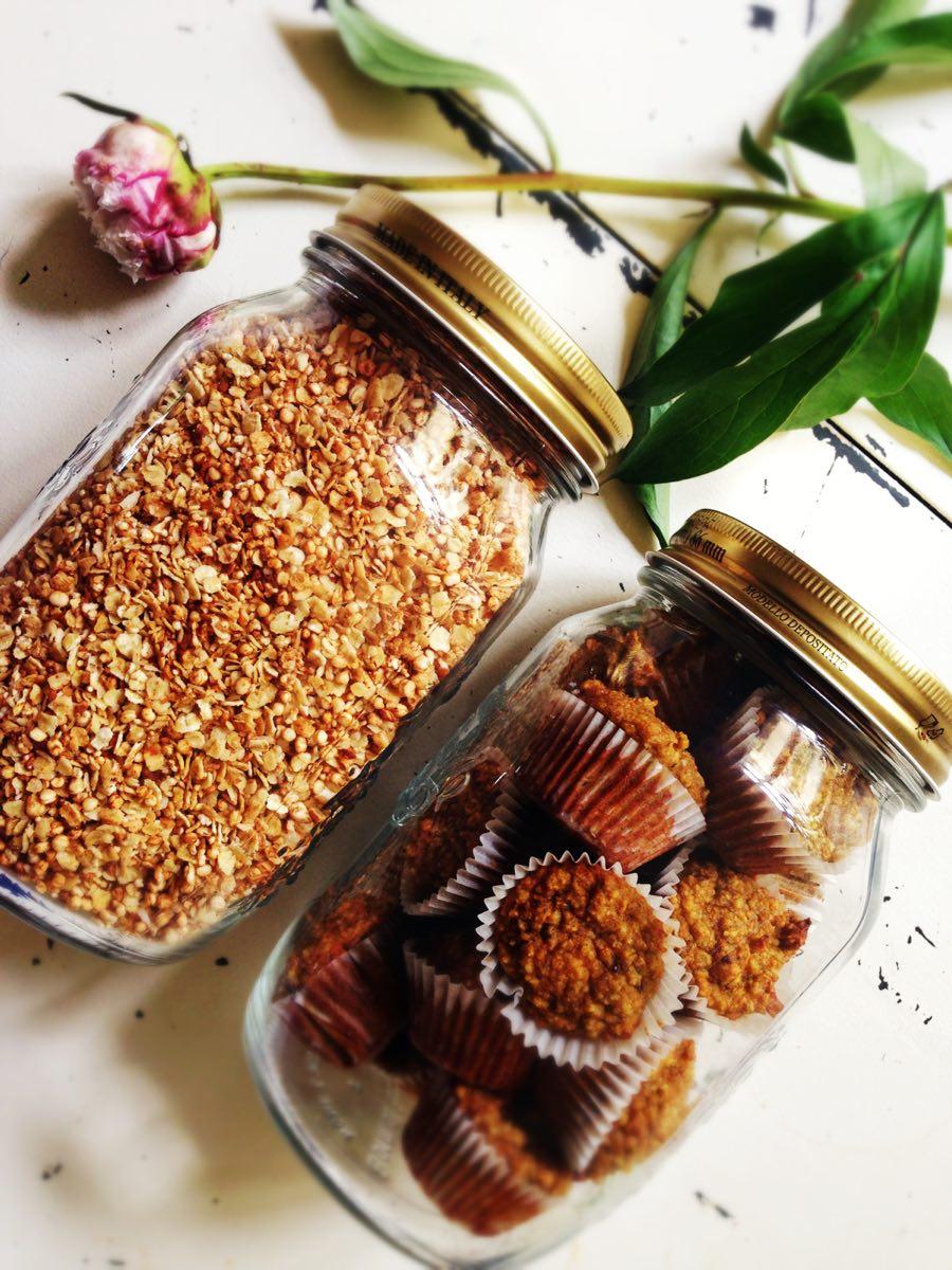 granola und muffins