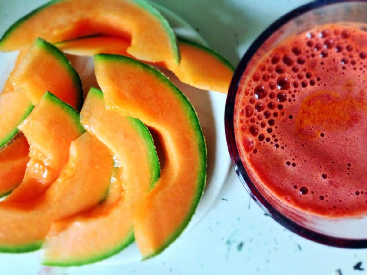 Gesunder Saft und frische Melone